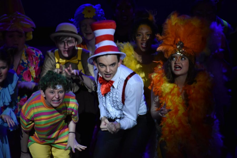 The opening number shows all cast members and explains the basis of the wonderful show.