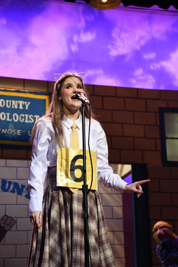 Addison Bassemier (11) sings about her love of the dictionary.